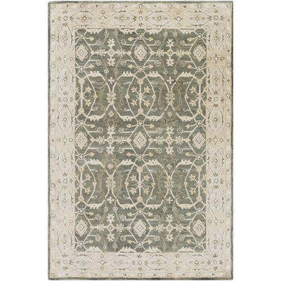 Fulham Hand-Tufted Black/Khaki Area Rug Rug size: Rectangle 2 x 3
