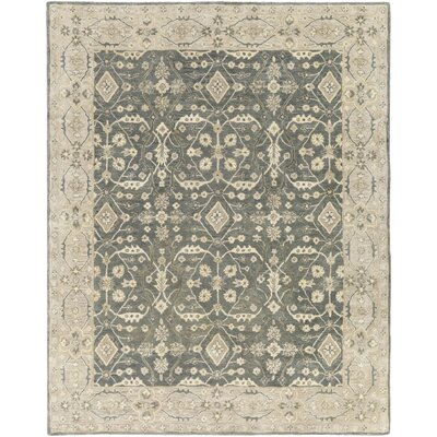Fulham Hand-Tufted Black/Khaki Area Rug Rug size: Rectangle 8 x 10