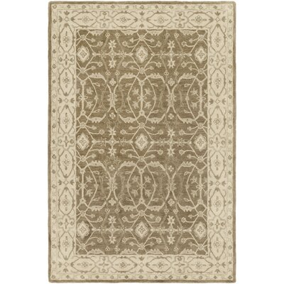 Fulham Hand-Tufted Beige/Aqua Area Rug Rug size: Rectangle 4 x 6