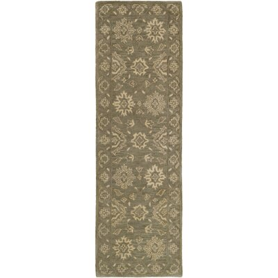 Fulham Hand-Tufted Camel Area Rug Rug size: Runner 26 x 8