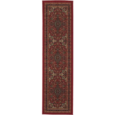 Ryan Red Area Rug Rug Size: Runner 1'8
