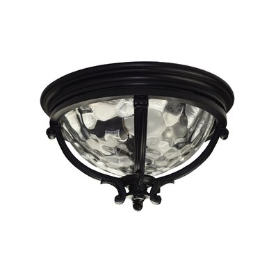 Ironstone 3-Light Flush Mount Color: Black