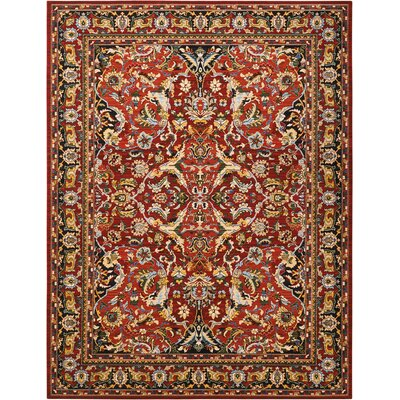 Charleson Red Area Rug Rug Size: Rectangle 86 x 116