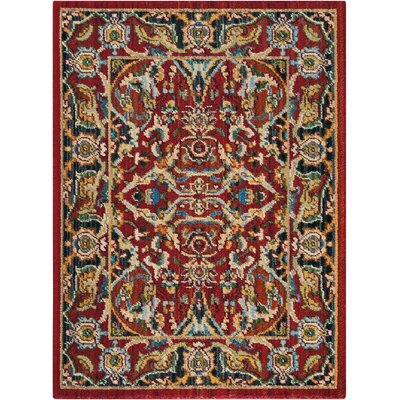 Charleson Red Area Rug Rug Size: Rectangle 23 x 3