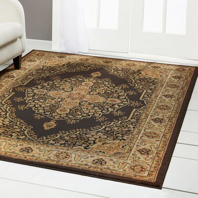 Caterina Brown Area Rug Rug Size: Rectangle 3'7