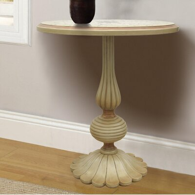 Royer Hand Painted Wooden End Table