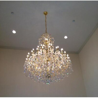 Kiazolu 49-Light Crystal Chandelier Color: Chrome