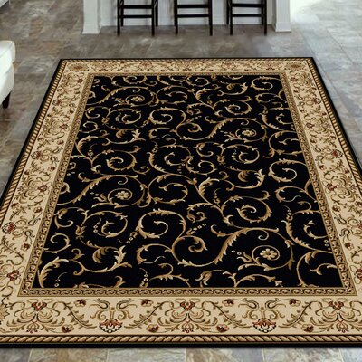Weisgerber Black Area Rug Rug Size: Rectangle 79 x 11