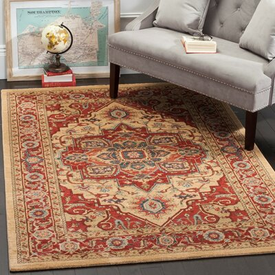 Clarion Red Area Rug Rug Size: Rectangle 3 x 5