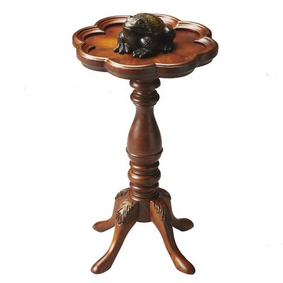 Bedingfield Round Scatter Table in Distressed Olive Ash Burl