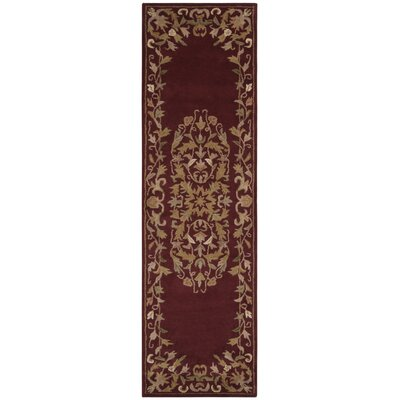 Balthrop Red/Yellow Floral Area Rug Rug Size: Runner 23 x 8