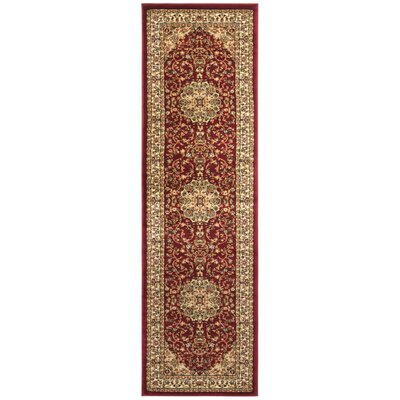 Barton Red/Ivory Rug Rug Size: Runner 23 x 8