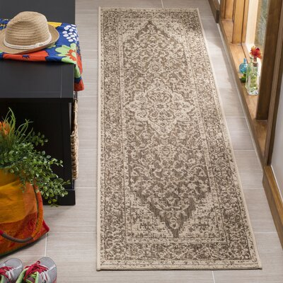 Allie Beige/Cream Area Rug Rug Size: Runner 2 x 8