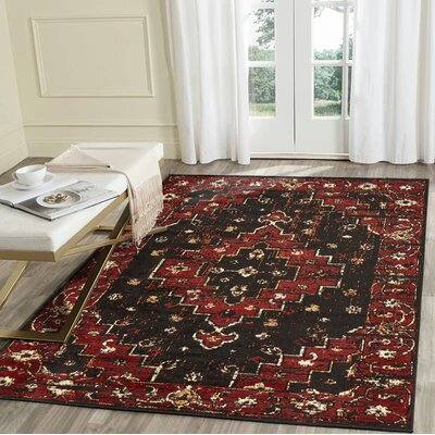 Liberty Hill Black/Beige Area Rug Rug Size: Rectangle 79 x 95