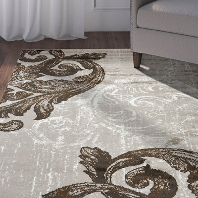 Rueben Light Beige Area Rug Rug Size: Rectangle 79 x 95
