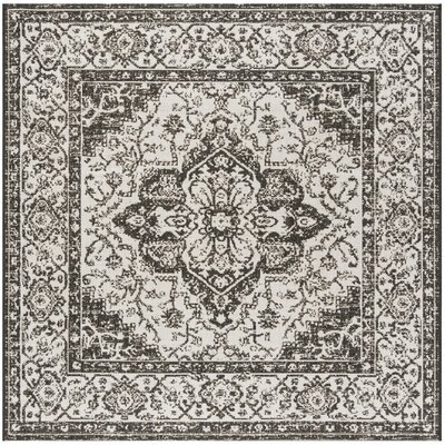 Allie Light Gray Area Rug Rug Size: Square 67