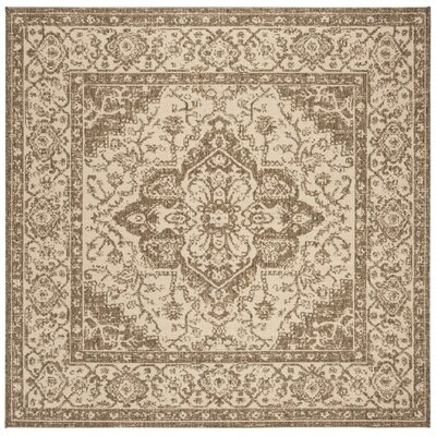 Allie Cream/Beige Area Rug Rug Size: Square 67
