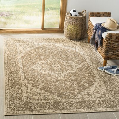 Allie Beige/Cream Area Rug Rug Size: Rectangle 51 x 76