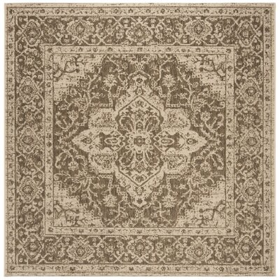 Allie Beige/Cream Area Rug Rug Size: Square 67