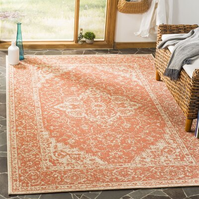 Allie Rust/Creme Area Rug Rug Size: Rectangle 9 x 12