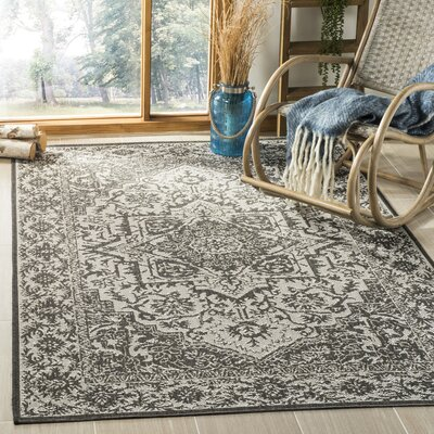 Allie Contemporary Light Gray Area Rug Rug Size: Rectangle 9 x 12
