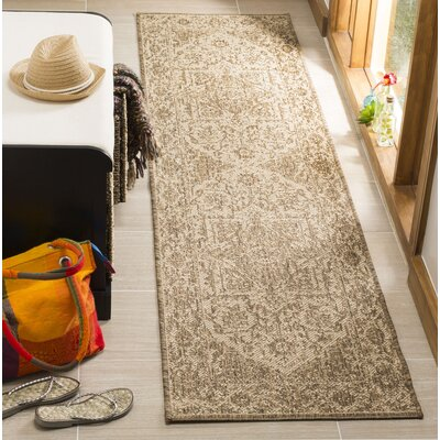 Allie Cream/Beige Area Rug Rug Size: Runner 2 x 8