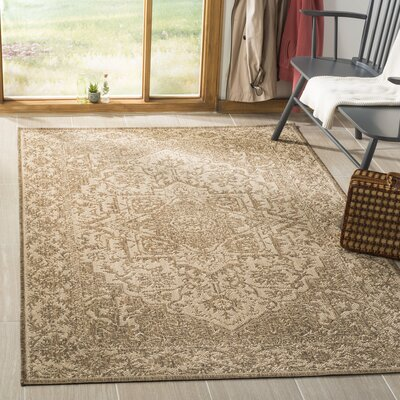 Allie Cream/Beige Area Rug Rug Size: Rectangle 51 x 76