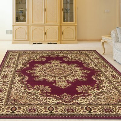 Northington Burgundy Area Rug Rug Size: Rectangle 910 x 1210