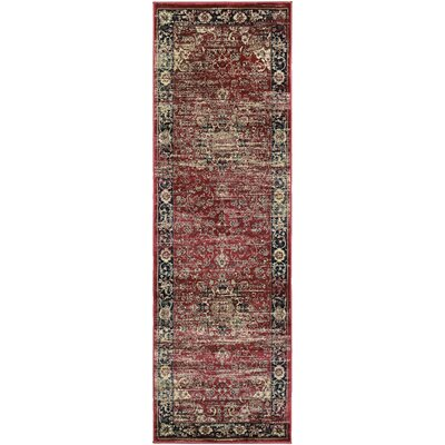 Larimore Red/Black Area Rug Rug Size: Runner 28 x 71