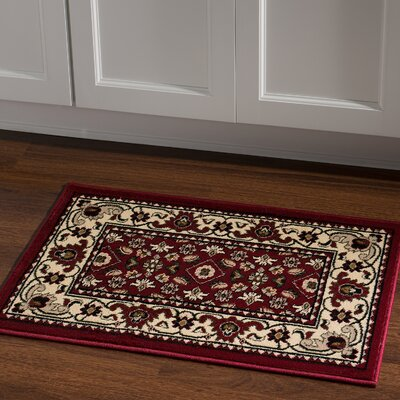 Northfields Red Area Rug Rug Size: Rectangle 2 x 3