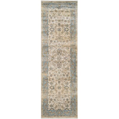 Cotswolds Light Blue/Oatmeal Area Rug Rug Size: Runner 28 x 71