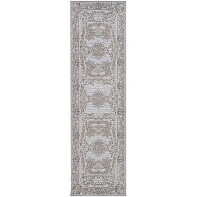 Jamison Gray Area Rug Rug Size: Runner 23 x 71