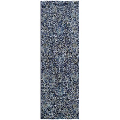 Meadville Navy/Sapphire Area Rug Rug Size: Runner 27 x 71