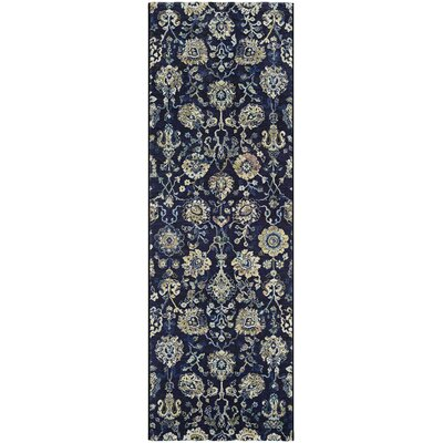 Meadville Navy/Cream Area Rug Rug Size: Runner 27 x 71