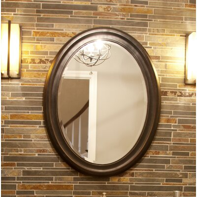 Oval Wood Wall Mirror Finish: Oil Rubbed Bronze