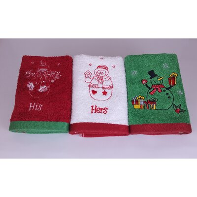 Snowman Family Wash Cloth