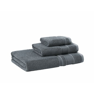 3 Piece Towel Set Color: Anthracite
