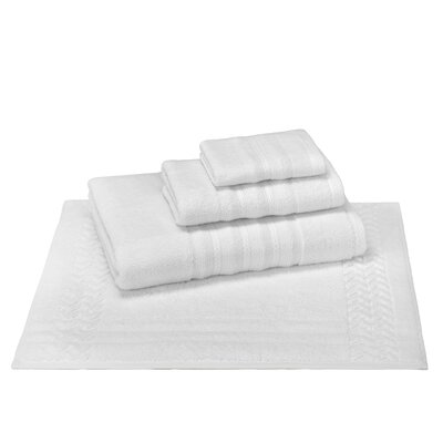 4 Piece Towel Set Color: White