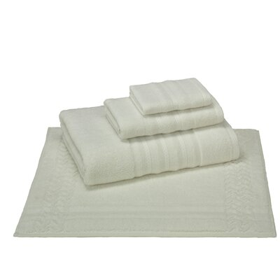4 Piece Towel Set Color: Cream