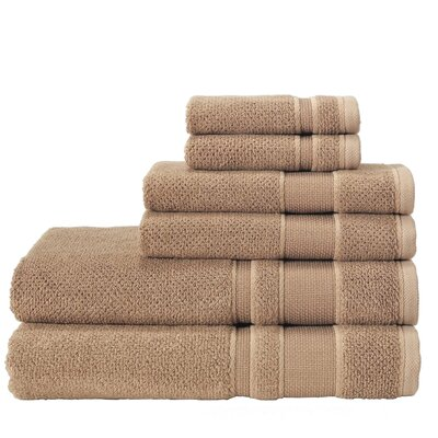 6 Piece Towel Set Color: Mustard