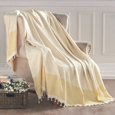 Turkish Cotton Throw Blanket Color: Yellow