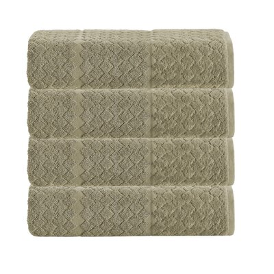 Isola 4 Piece Towel Set Color: Olive