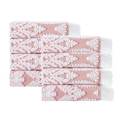 Laina Hand Towel Color: Pink