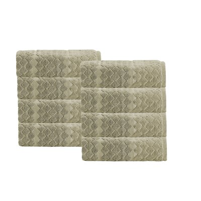 Isola Turkish 8 piece Hand Towel Set Color: Olive