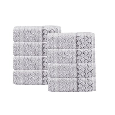 Isola Turkish Hand Towel Set Color: Silver