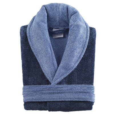 Bamboo Rayon Bathrobe Color: Navy