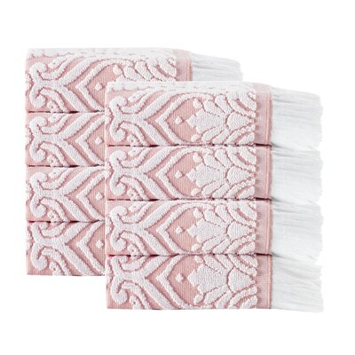 Laina 8 Piece Towel Set Color: Pink