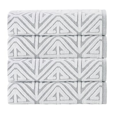 Glamour Cotton 4 Piece Towel Set Color: Silver