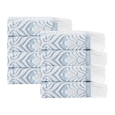 Laina 8 Piece Towel Set Color: Turquoise