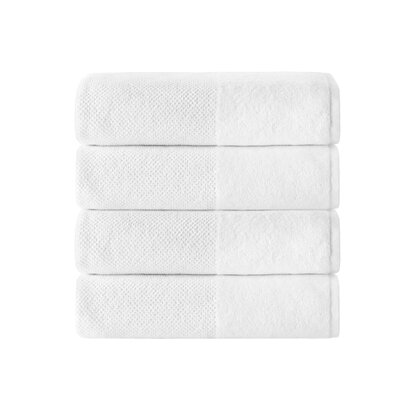 Incanto 100% Turkish Cotton 4 Piece Bath Towel Set Color: White